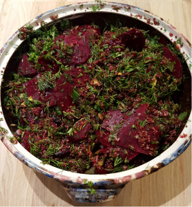 Quinoa Salad with Cherries and Beets